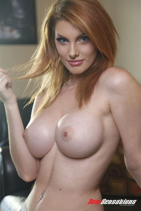 Busty Young Teen Naked Nude Gorgeous Beautiful Redhead Rainia Belle With Blue Eyes Wearing White