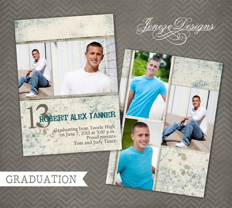 photoshop template graduation announcement graduation announcement photoshop template item ga014