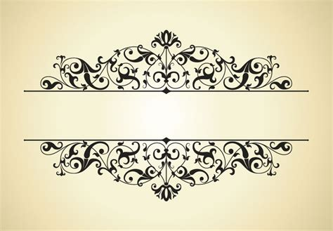 pattern border vector free vintage patterns border vector 4 vector sources