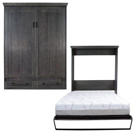 queen size murphy bed shop houzz roomandloft devonshire queen size murphy bed