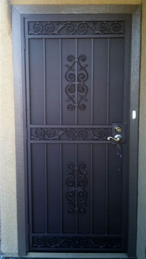 Wrought Iron Security Gate Front Door Nucleus Home Front Door Protection From