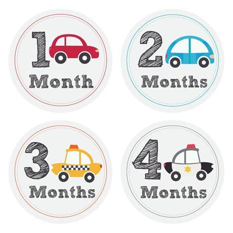 Baby Boy Month Stickers