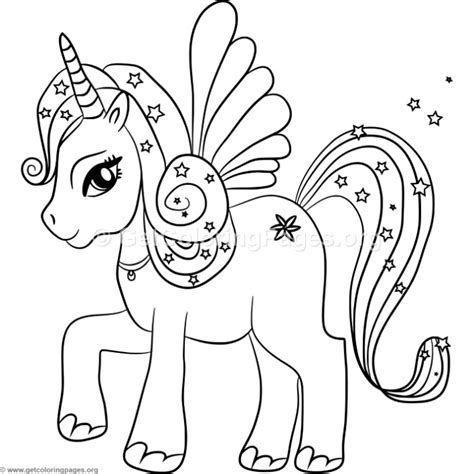 Coloring Page Unicorn With Wings by Kawaii Unicorn With Wings Coloring Pages