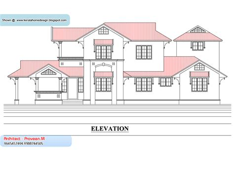 Kerala Home Plan And Elevation 2033 Sq Ft Home Appliance Floor Plans And Elevations Of Houses