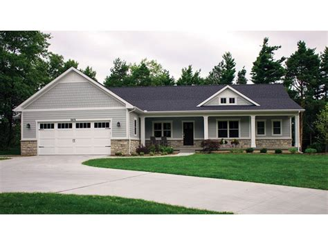 house plans with finished walkout basements open plan ranch finished walkout basement hwbdo house plans 27884