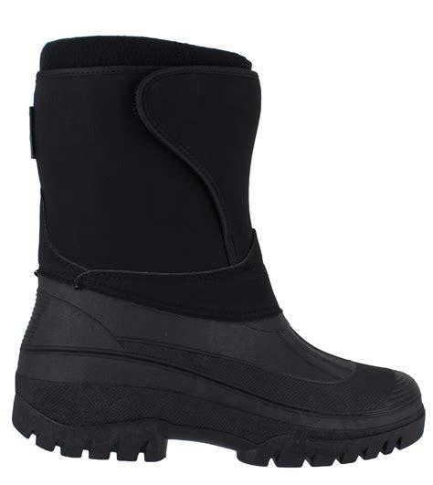 mens velcro winter boots groundwork ls89nub mens black nubuck style velcro winter