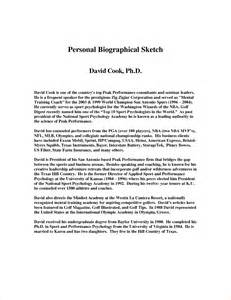 biographical sketch template personal statement for biosketch