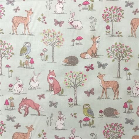 Grey And White Upholstery Fabric Discover Direct Lifestyle Woodland Cotton Fabric Animal