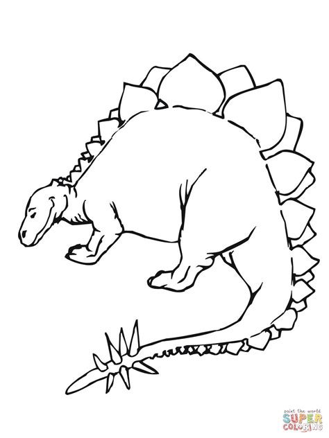 coloring pages dinosaurs stegosaurus stegosaurus jurassic dinosaur coloring page free