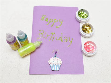 Make Handmade Birthday Card - how to make a simple handmade birthday card 15 steps
