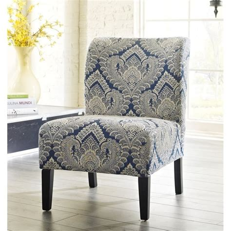 Honnally Fabric Accent Chair In Sapphire 5330360