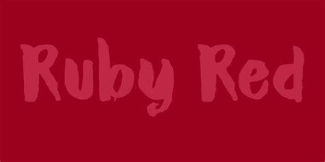 dk ruby red font befontscom