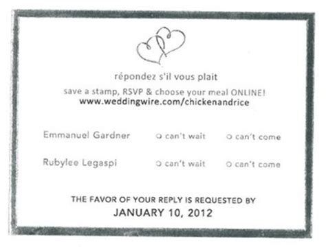 Weddingwire Rsvp by Response Cards Mail In Vs Weddings Etiquette