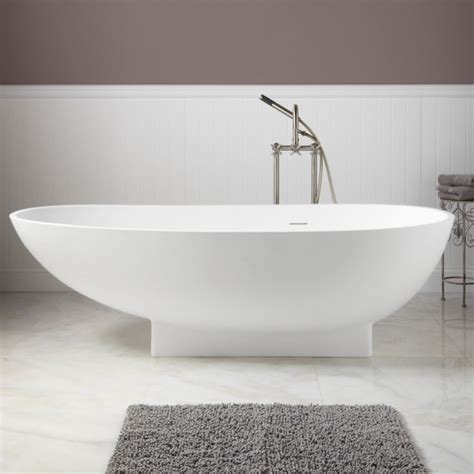 bathrooms with freestanding tubs 71 quot kaya resin freestanding tub bathroom