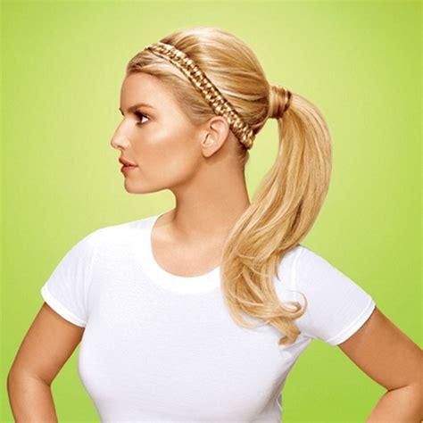 jessica simpson headband hair extensions hairdo jessica simpson elastic braid headband best clip