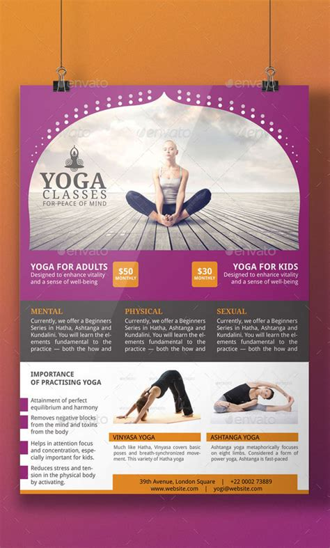 templates for yoga yoga flyer template by blogankids graphicriver
