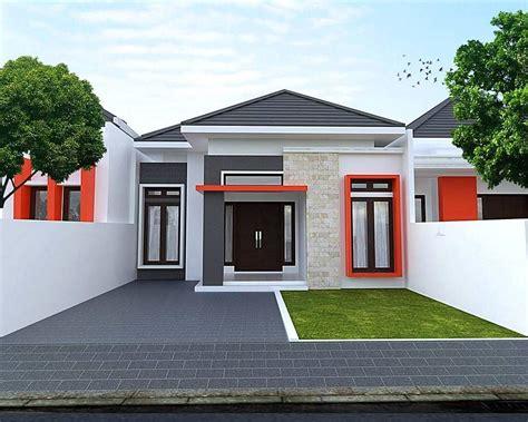 desain rumah minimalis type  tampak depan  lantai  teras batu alam rumah casas