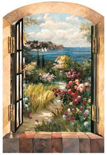 fabric murals for walls garden by the sea peel stick fabric mural ebay