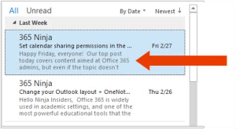 outlook layout email preview change your inbox message preview settings in outlook