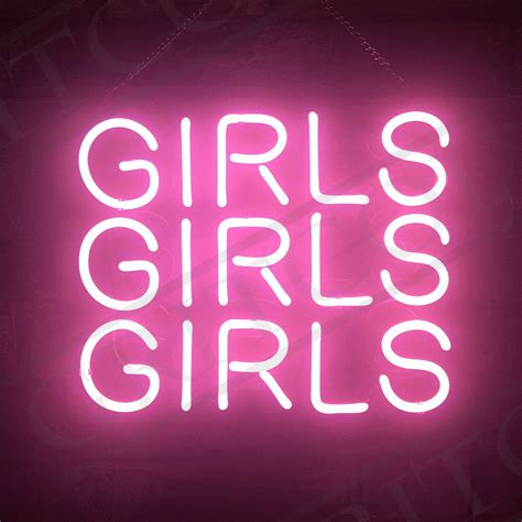 neon wall light signs craft pink neon sign light boutique