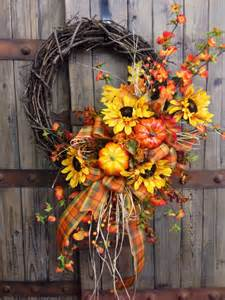 Spring Porch Decorating Traditional Fall Grapevine Wreath