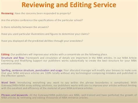 Mba Essay Editing by Mba Essay Editing