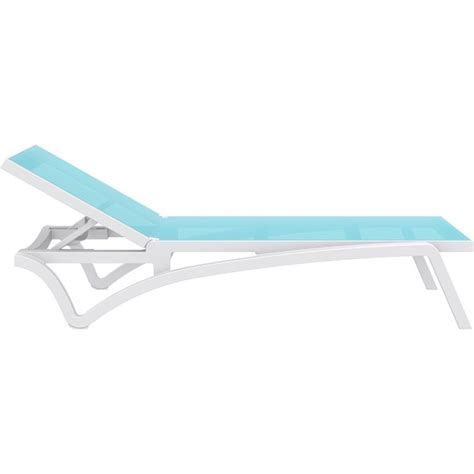 turquoise chaise compamia pacific chaise lounge with turquoise sling in