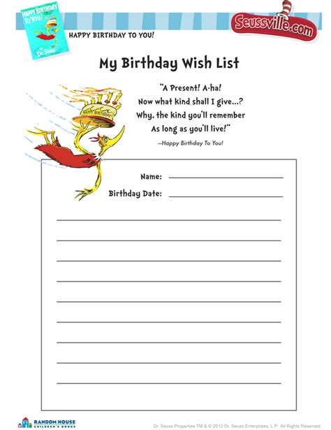 printable birthday card list 5 best images of birthday wish list template printable
