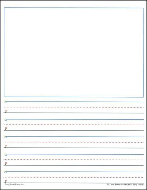 printable lined paper with room for picture 123 best ideal writing classroom images on pinterest
