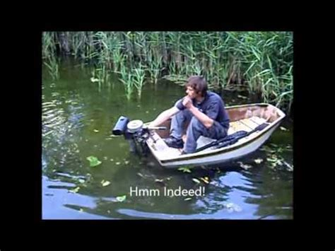 small boat big motor epic outboard motor on small boat test fail part 1 youtube