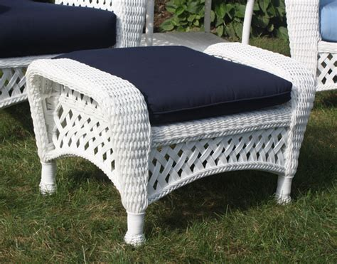 white wicker ottoman white outdoor wicker ottoman