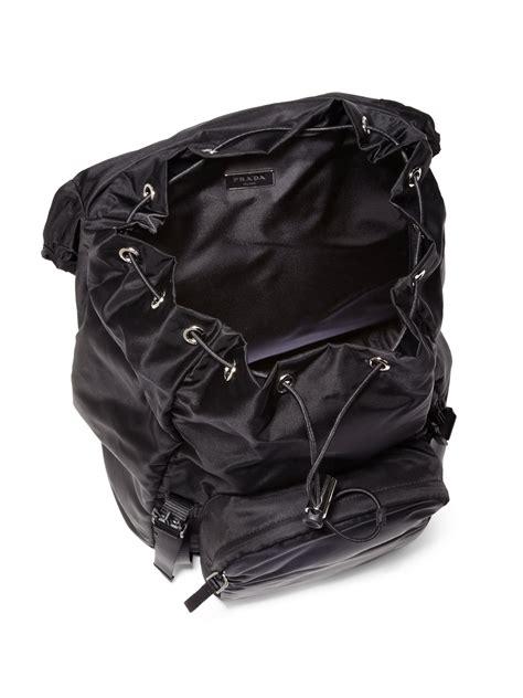 Cs 544 Black black leather prada backpack