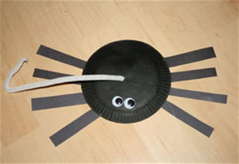 spider paper plate craft paper plate spider craft all network