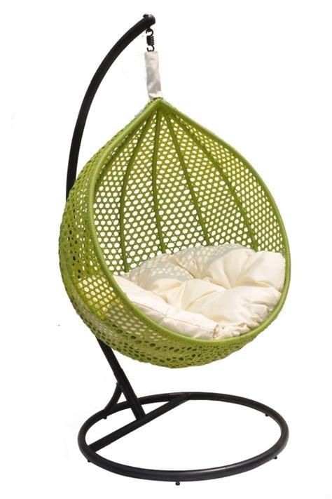 Bien Fauteuil De Jardin Suspendu #1: fauteuil-jardin-suspendu-Ravelo-vert-blanc-noir.jpeg