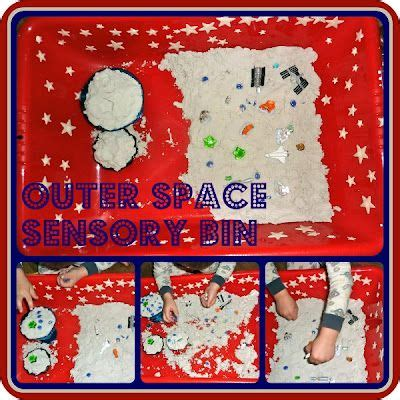 Ashira Outer outer space sensory play idea for outer space