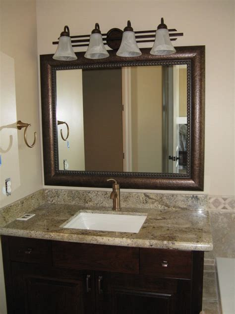 Beautiful And Elegant Mirror Frame Kits Traditional Framed Bathroom Mirrors