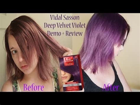 Deep Velvet Violet Hair Dye African America | vidal sasson deep velvet violet hair dye review demo youtube