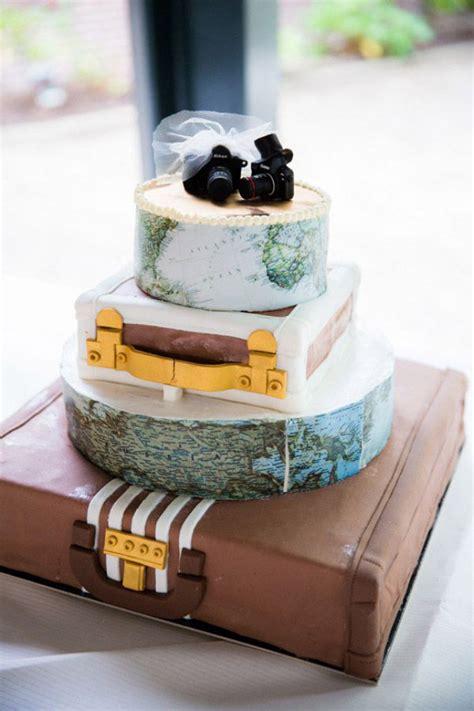 Hochzeitstorte Thema Reisen by 25 Travel Themed Wedding Or Ideas Brit Co