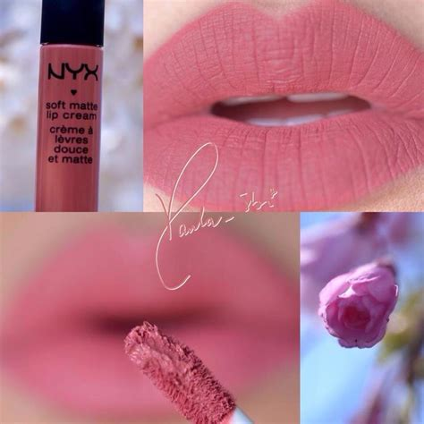 Nyx Cannes dusty nyx soft matte lip in cannes hair