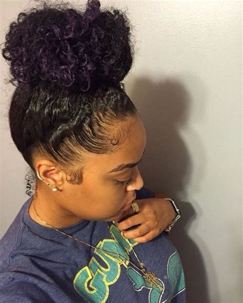 ponytail with twist in front black women instagram 25 best ideas about natural hair ponytail on pinterest