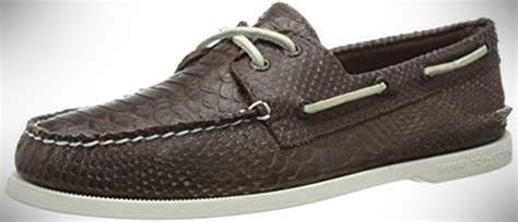 sperry top sider s ao two eye python boat shoes that