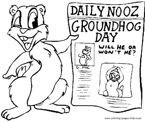 groundhog day coloring pages ground hog day worksheet holidays groundhog day