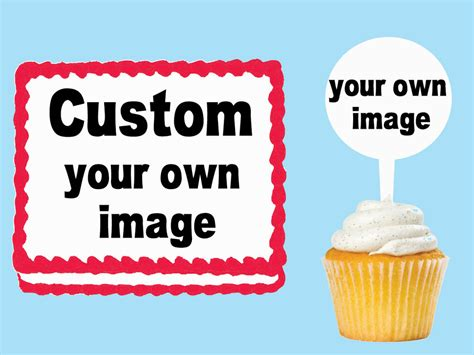 custom    image edible cake cupcake toppers plastic pick stickers ebay