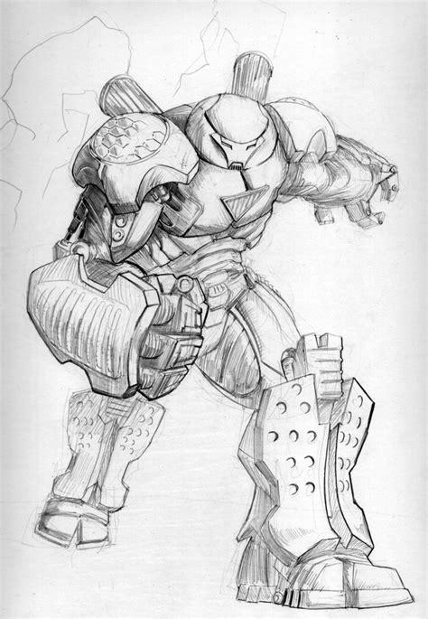 iron man hulkbuster coloring page hulkbuster iron man pencils by tgping on deviantart