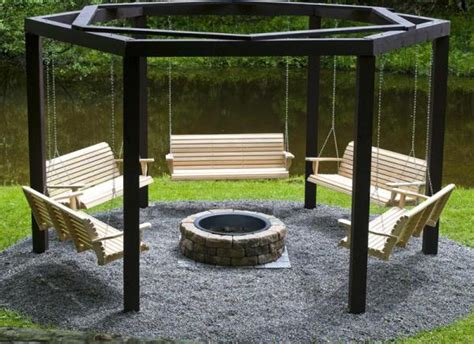 awesome pit swing set home design garden