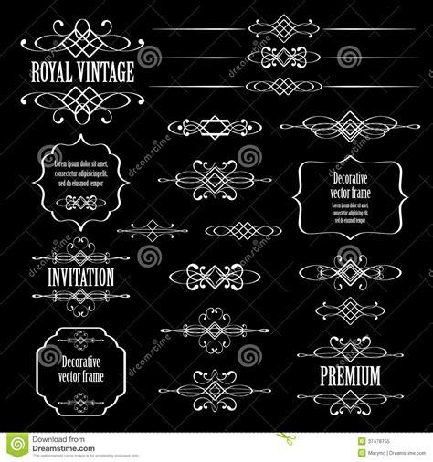vector decorative design elements page decor calligraphic design elements and page decor on bla royalty