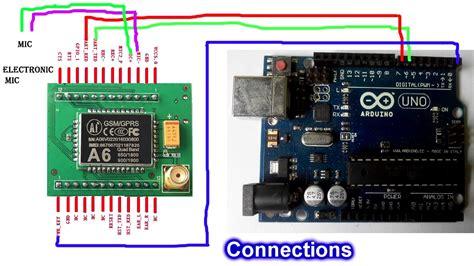 code arduino gsm gsm bug using arduino a6 gsm modem youtube