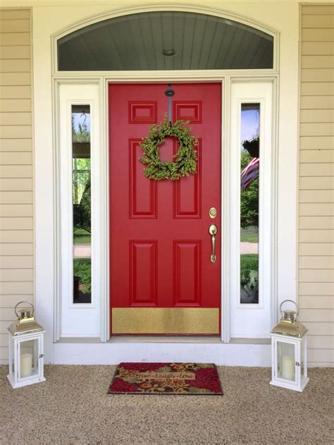 benjamin moore door paint my farmhouse door painted from tan to red paint color