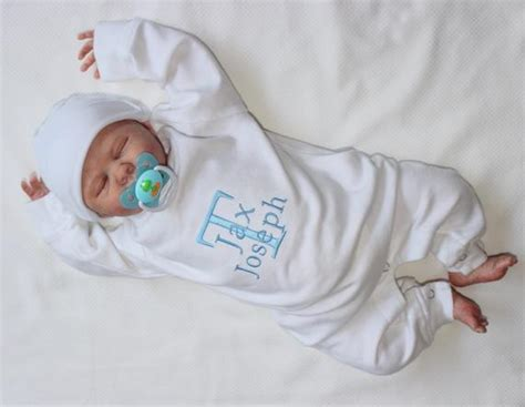 newborn baby boy coming home baby boy coming home name embroidery by