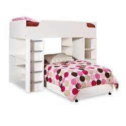 Gt bunk beds gt modern l shaped twin over twin loft bunk bed with desk